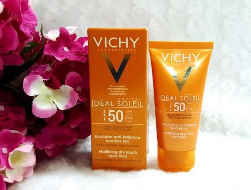 Kem-chong-nang-cho-da-dau-Vichy-Ideal-Soleil-SPF50