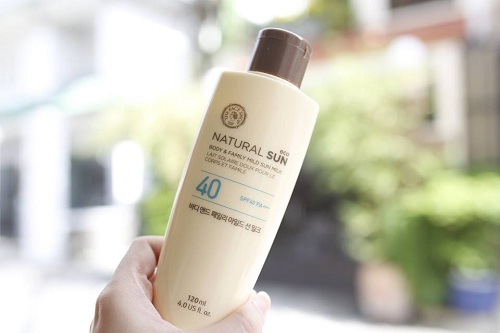 Kem-chong-nang-The-Face-Shop-Eco-Natural-Sun-Body-Family-Mild-Sun-Milk-SPF40